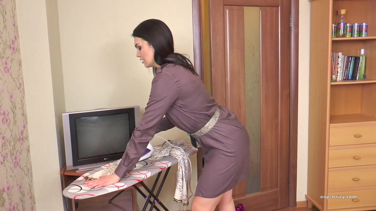 Domestic Chores Porn - Hairy milf Kristina Ray does the household chores