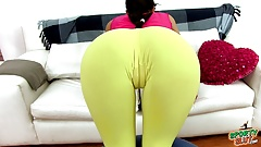 Amazing Ass Big Cameltoe Perfect Body Brunette in Spandex's Thumb