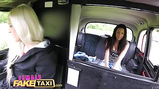 Female Fake Taxi Amateur actress licks and fingers blonde