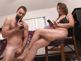 Shoe Sniffing Stepson Become Slave<c>mom femdom,cum on feet <d>