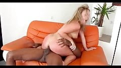 Blonde Gets Her Ass Reamed By Black Cock