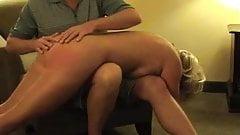 Hot Mature Blonde Punished- sucks and spanked