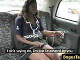Posh taxi ebony fucked through sluthatch