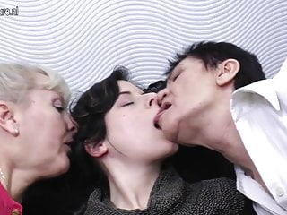 Grandmother granddaughter lesbian - Daughter gets fucked by two grandmothers