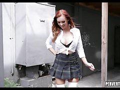 Redhead Schoolgirl Perving