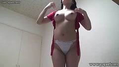 Japanese Girl with Big Natural Tits Wearing Clothes in Apart
