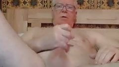 grandpa stroke and play with a dildo