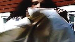 Wind Blown Skirt Distress -Up Close