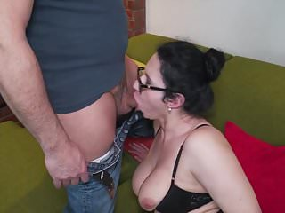Hairy mom and wife fucking and sucking big cock