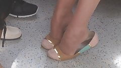 Candid Seated Heelpopping Dipping Shoeplay Feet by Cutie