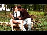 french schoolgirl rough anal fucked in nature