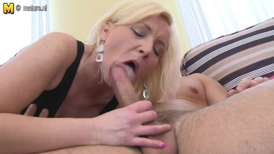 Blonde milf and her toyboy