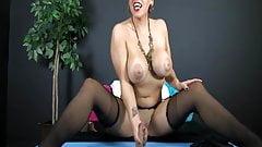 Gloryhole tease by Cuban goddess gets cock hard for handjob