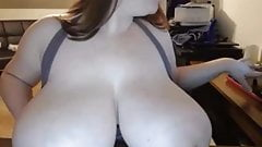 Big Boobed BBW at home
