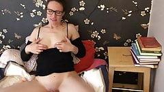 Claire masturbates her shaved pussy  (sneak peek)