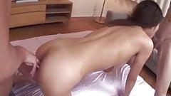 Mafuyu Hanasaki gorgeous babe sucking and fucking