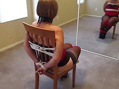 wife tied to a chair