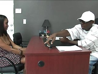 Preview 1 of Black stud gets to fuck a hot ebony girl in his office
