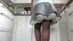 Under her skirt's Thumb