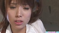 Hinata Tachibana has an orgasm with an asian cum face