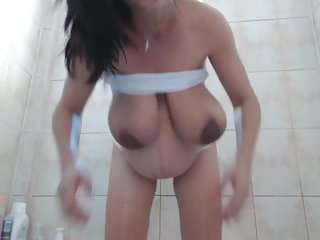Babe In Pregnant Take Shower On Webcam Terrifier