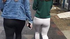 Stamford Hill Peachy ass in leggings x 2 North London uk
