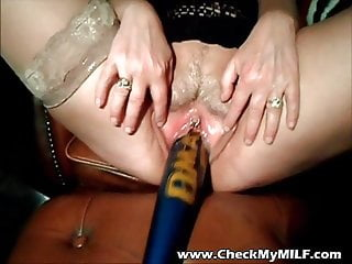 Check my MILF Mature wife fucked with baseball bat and toys