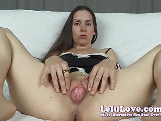 Lelu Love-Pussy Spreading Gaping JOI