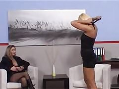 Caned arse