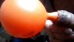 How to blow a ballon up with your dick .