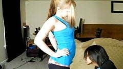 Ballbusting - Teen Brutally Knees Balls!