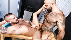 Hairy Gym Guys Fuck In The Locker Room