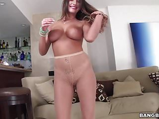 Perfect ass August Ames takes huge cock doggystyle