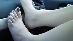 Feet in the car