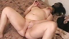 Horny fat BBW Teen GF Masturbating in the morning