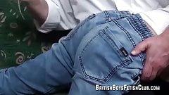 Ricky spanked in jeans