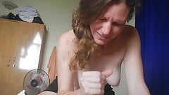 American exposed sucking cock and swallowing cum