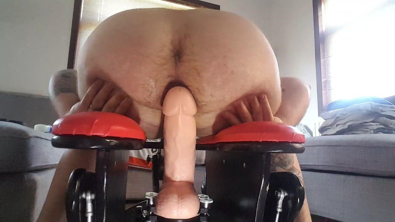 Fat Ass Riding Dildo Squirt