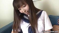 Bondage and throatfuck for Haruka Osawa feels better than an