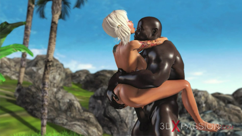 Candy schoolgirl desires to have intercourse with a black man outside