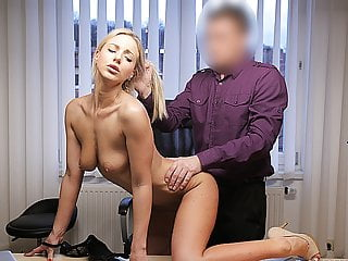 LOAN4K. It's not a casting but blonde undresses and fucks...