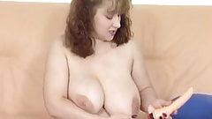 German Big Tit Masturbate in white Stockings.mp4