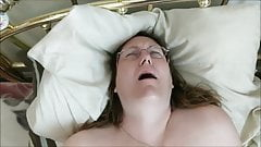 BBW Milf vibrating herself to a hot orgasm while i film