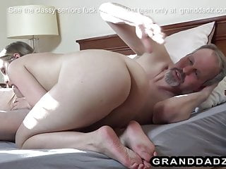 Senior citizen makes love to the hottest young babe
