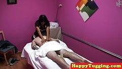 Oriental masseuse sixty nines client on spycam