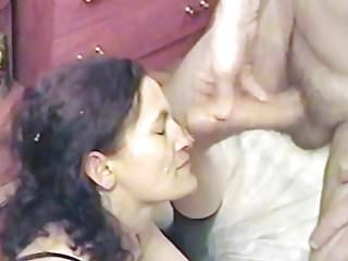 AndreaSex receiving cum in face while Cuckold film happy