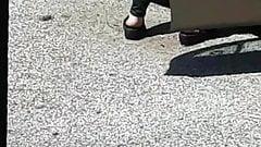 Mature Thick heels walking