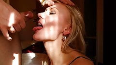 Сперма на лицо блондинки