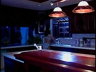 Housewife gets pussy licked and sucked in kitchen