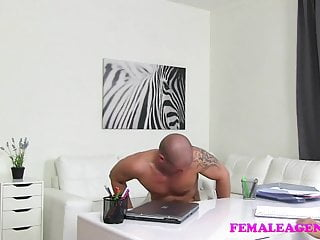 FemaleAgent Horny MILF gets fucked well by ripped stud